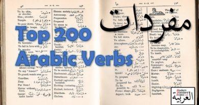 vocab top 160 arabic verbs learn study msa