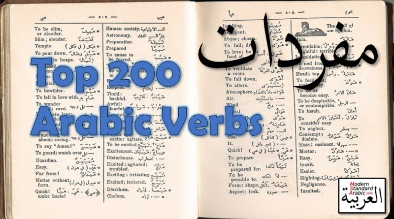 vocab top 160 arabic verbs learn study msa