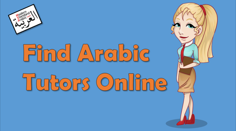 arabic tutors modern standard arabic