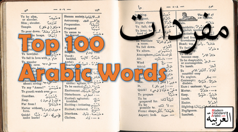 Top 100 Arabic Words
