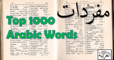 vocab top 1000 arabic words to learn and master msa